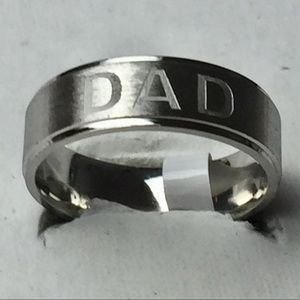 Sz 6 Stainless Steel Dad Ring